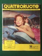 QUATTRORUOTE n.10 Ottobre 1957 Rivista Magazine VESPA 400 BIANCHINA FIAT 500