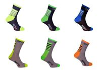 1 PAIO CALZINI CICLISMO DARK BLUE GREY&FLUO CYCLING SOCKS 1 PAIO ONE SIZE