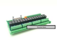 16-Way DC24 12 5V 8A 1-NO/1-NC Relay Driver Dashboard Module Servo PLC DIN NPN