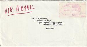 1974 USA cover sent from Sarasota FL to Rutland UK