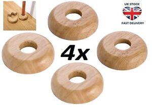 4 X REAL OAK Wood 45/15mm Radiator Pipe Collars Wooden Floor Cover Rose Rings