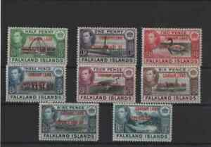 set of 8 stamps from the falkland islands