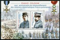 France 2019 MNH Diplomatic Relations JIS Poland Charles de Gaulle 2v M/S Stamps