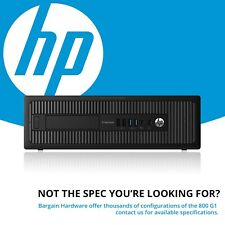 HP 800 G1 SFF Desktop PC, 4th Gen i5 Quad Core 8GB RAM SSD EliteDesk Win 10 Pro