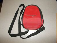 Nintendo DS gaming system storage and carry mini backpack case red black used