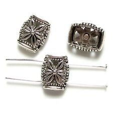 50 Intercalaires spacer _ RECTANGLE 2 rangs 14.5mm _ Perles apprêts brace _ A163