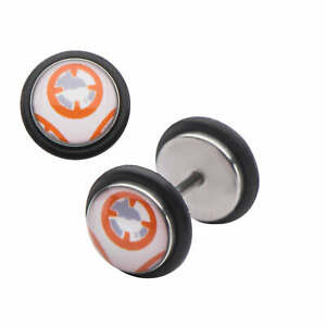 Star Wars VII: The Force Awakens Kylon BB-8 Stainless Steel Fake Plug Earrings