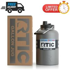 RTIC One Gallon Insulated Water Jug Stainless Steel Construction   Graphite
