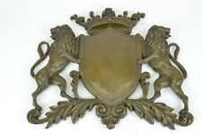 Real Bronze Metal Plaque Middle Ages Family Crest Coat Shield Heraldic Figure