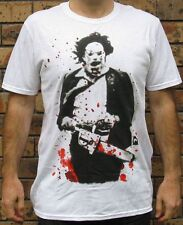 Official Mens Texas Chainsaw Massacre Leatherface Licensed Blood Spatter T Shirt