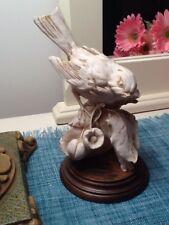 G. Armani Capodimonte Sparrows Bird Figurine - Made in Italy