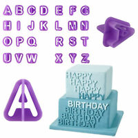 40pcs Alphabet Number Letter Fondant Cake Decorating Set Icing Cutter Mould