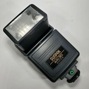 Sunpak Auto 383 Super High Power Flash Used Test Working Clean Lightly Used