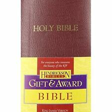KJV Gift &; Award Bible: King James Version, Burgundy I - Imitation Leather NEW