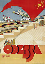 Travel Poster - Odessa / USSR / Ukraine 1930 - Vintage Reprint A4 Wall Art