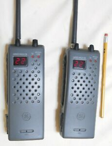 GE Model 3-5980A 40 Channel CB Transceiver Radio/Walkie Talkies Cleaned/TESTED