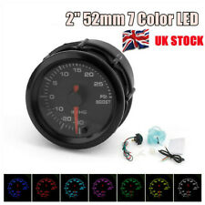 Universal 2'' 52mm Bar Blue Led Light Pressure Turbo Boost Gauge Meter UK STOCK