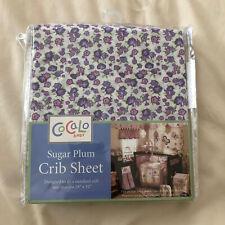 "NEW CoCaLo Baby ""Sugar Plum"" Purple Flowers Crib Sheet Girl"