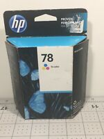 GENUINE HP 78 TRI-COLOR INK CARTRIDGE C6578DN NEW Exp 08/2015