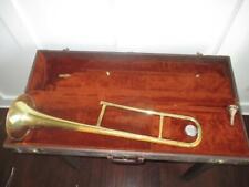 Vintage Olds Ambassador Trombone W/ Original Case Olds 3 Mouthpiece NICE