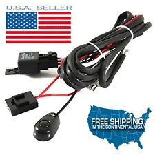 LED Work Light Bar CREE Wiring Harness Kit ON/OFF Switch Relay Cable KIT JEEP GM