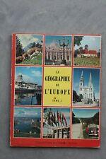 Hergé-Timbre Tintin-Album La géographie de l'Europe 1-édition Lombard-1957