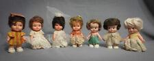 "Eegee Itsy Bitsy Dolls Vtg Pee Wee Hong Kong Clones 4""Tall Original Outfits 1966"