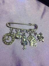 1 alice in wonderland kilt pin brooch