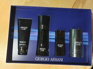 Giorgio ARMANI CODE 4 PIECE SET - 2.5/0.67 Oz EDT, Deodorant, After Shave Balm