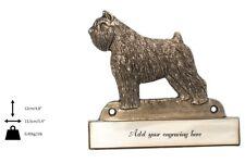Bouvier des Flandres - brass tablet with image of a dog, engraver, Art Dog Usa