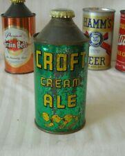 Croft Cream Ale Cone Top Beer Can - Usbc 158-20