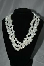 Beautiful Hawaiian Freshwater 3 Strand Pearl Necklace