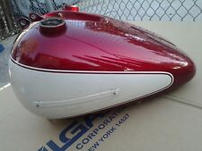 5 GAL FATBOB TANKS WITH EMBLEM TABS '66 STYLE SHOVELHEAD RED AND WHITE PAINT JOB