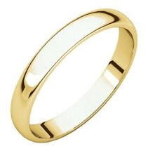 Solid 10k Yellow White Rose Gold 3mm Comfort Fit Men Women Wedding Band Ring