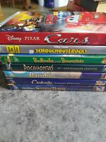 Disney DVD LOT Bambi Sleeping Beauty Cinderella Cars Pocahontas Bedknobs MORE 6