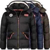 Geographical Norway Herren Winter Jacke Steppjacke Winterjacke mit Kapuze H-253