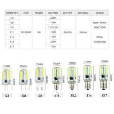 G9 G4 E14 E17 E12 Dimmable Silicone LED Corn Light Bulb 5W 7W 3014 SMD 110V 220V