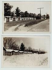 RPPC - LOT of 2  Norridgewock Maine - Dine a Mite Camp Motel? ca 1940 ME Photos