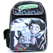 """Frankenweenie Sparky and victor Large school backpack 16"""" Book Bag -Electrifying"""