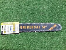 "NEW 14"" UNIVERSAL CHAINSAW BAR AND CHAIN CRAFTSMAN POULAN HUSQVARNA ECHO JDEERE"