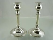 "PLAIN WEIGHTED ? CANDLE HOLDERS 6"" STERLING S 52 BY INTERNATIONAL SILVER CO"