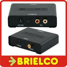 CONVERTIDOR ADAPTADOR AUDIO DIGITAL FIBRA OPTICA A ANALOGICO 2 RCA STEREO BD6466
