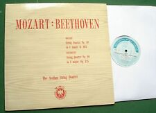 AEOLIAN STRING QUARTET Mozart No 19 Beethoven No 16 LP