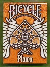 Bicycle Pluma Orange Deck Playing Cards Uspcc Rare New