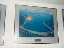 """South End Burt Lake View- Aerial Framed and Matted Picture 20""""h x 24""""w- Beauty"""