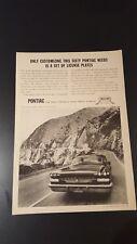 Vintage Original 1960 Pontiac Bonneville ad advertisement