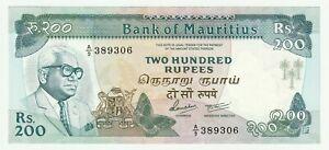 Mauritius 1985 200 Rupees P.39 UNC prefix A/9