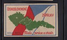 Ancienne étiquette allumettes   Tchécoslovaquie AQ120