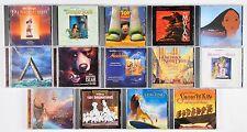 Walt Disney Original Motion Picture Soundtracks CDs Lot of 14 Lion King Toy Stor