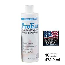 PRO DOG Grooming Groomer EAR CLEANER Deodorize Bathing Dissolves Odor,Wax 16 oz